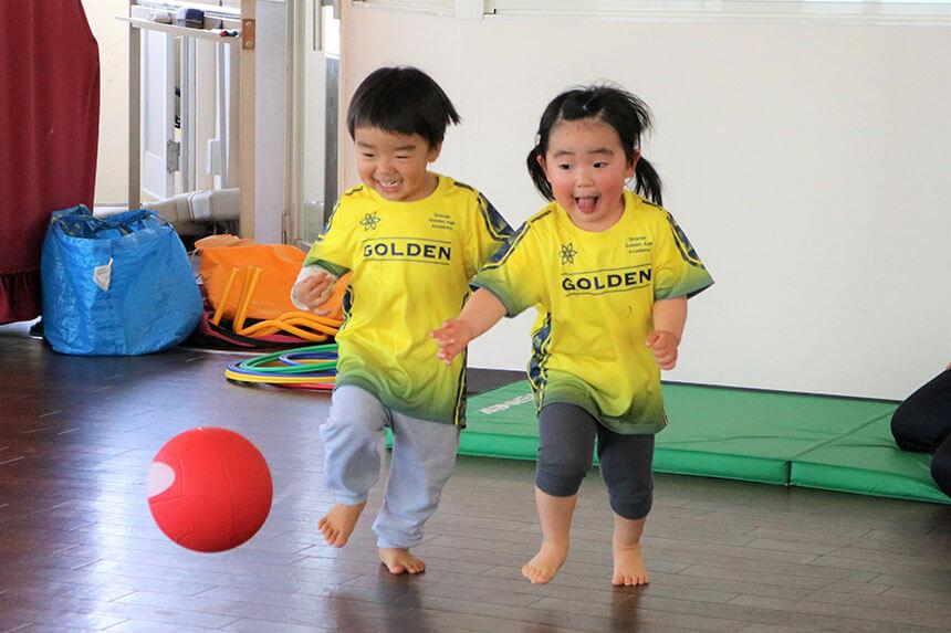 湘南の体操教室・運動教室『湘南ゴールデンエイジアカデミー』でボール練習
