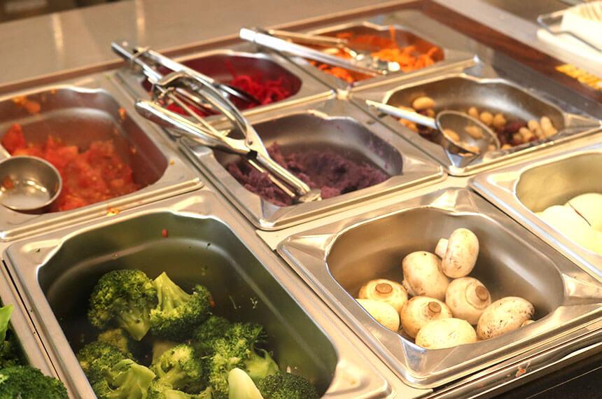 辻堂のサラダ専門店「ベリーベジー」のグリーンサラダの野菜