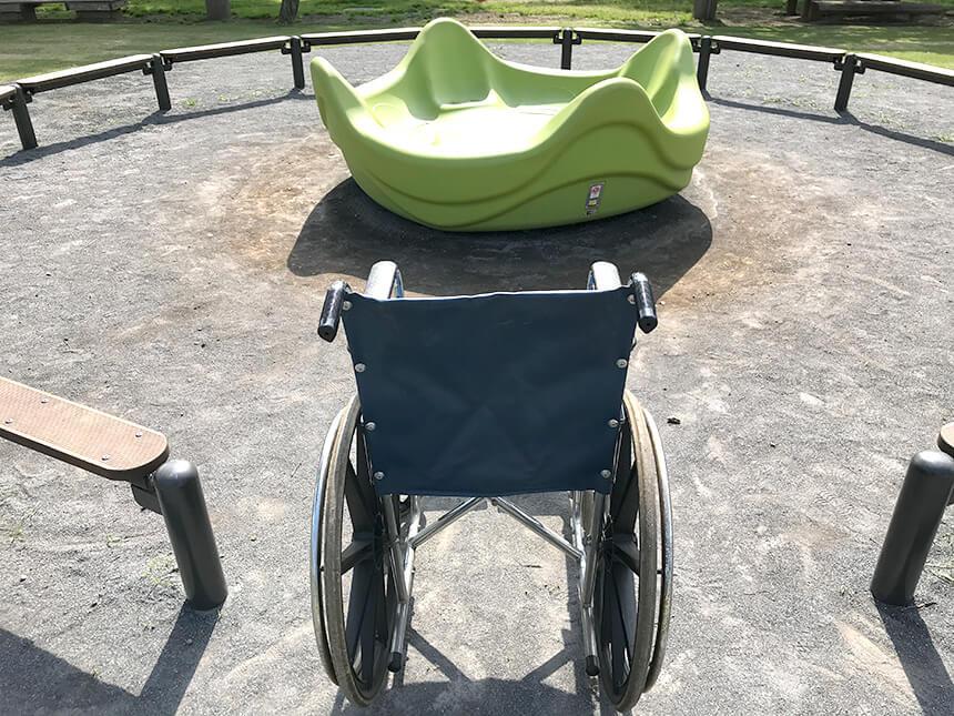 車椅子を停めるスペース