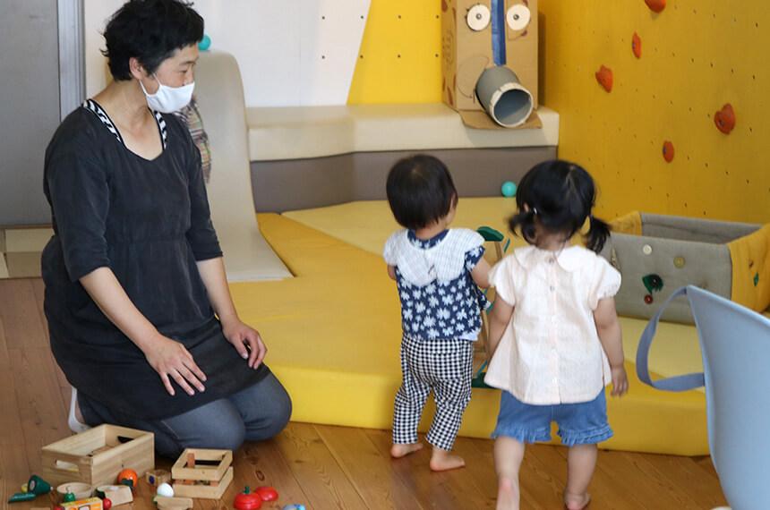 子どもたちの自由遊び