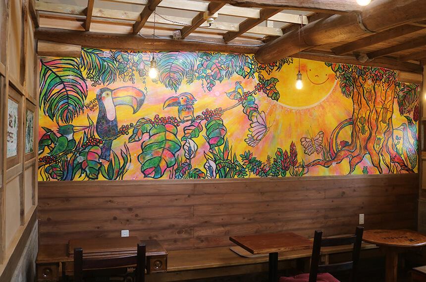 7325コーヒー(ナミニココーヒー)の壁画