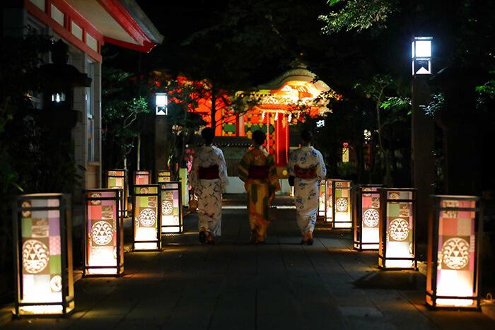 江ノ島『江の島灯篭2021』