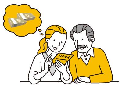 年金保険受け取り額を見る老夫婦