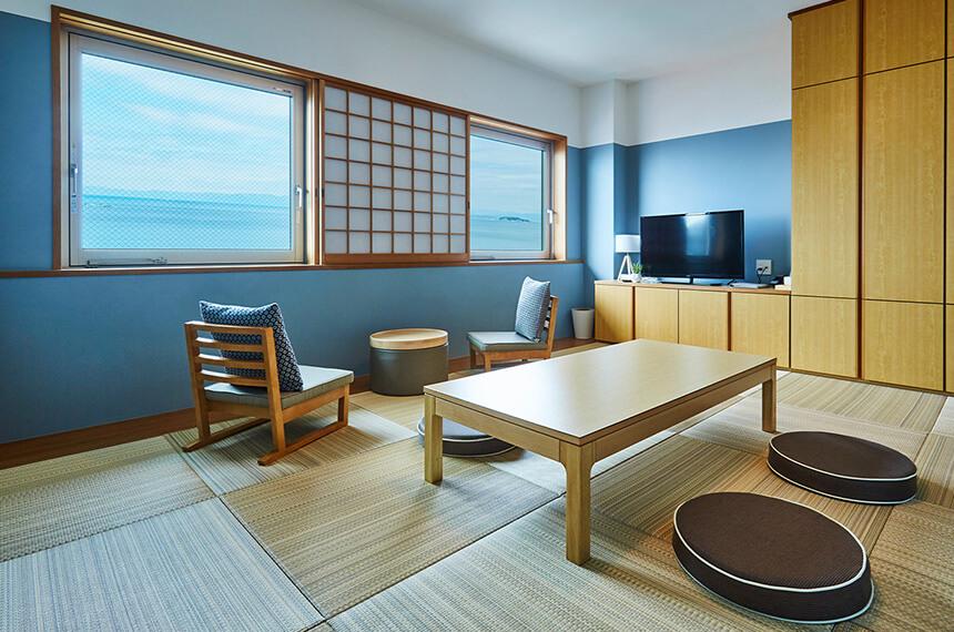 葉山『うみのホテル』の和室タイプの客室