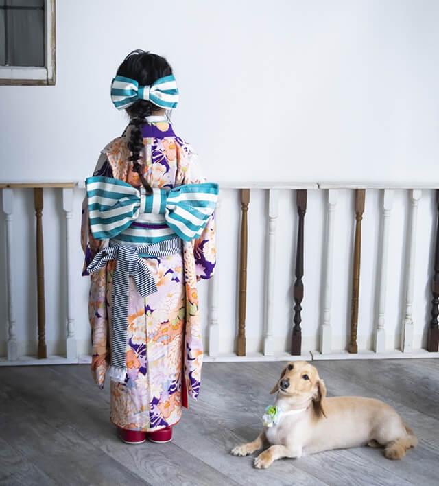 七五三着物専門のレンタルショップ「キモノガール」で撮影